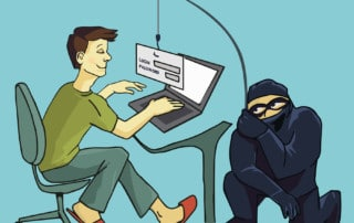 Computer Crime concept. Internet Phishing a login and password concept. Color illustration