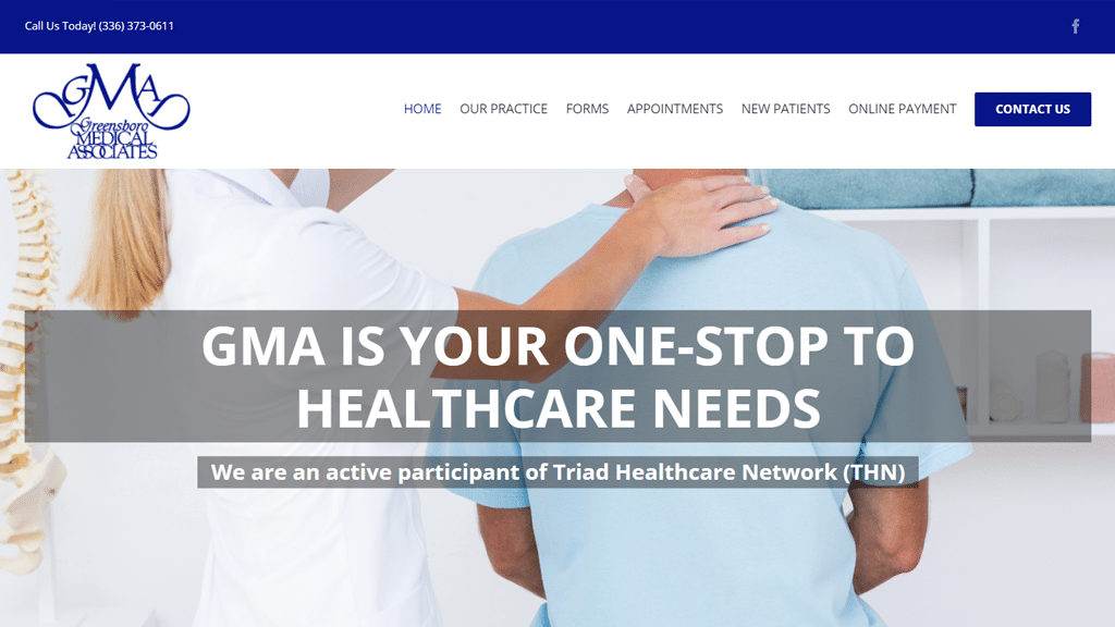 greensboro medical associates website development portfolio