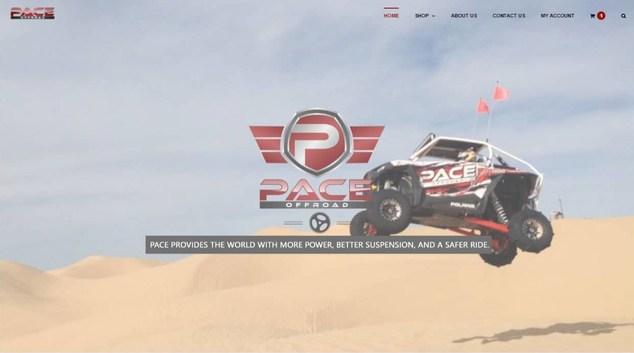 Website that we designed for Pace Offroad