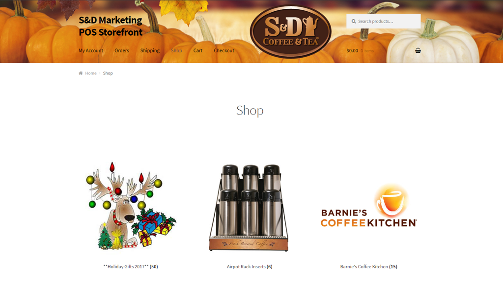snd marketing pos website development portfolio