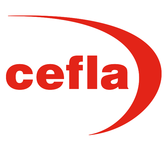 Cefla logo in red