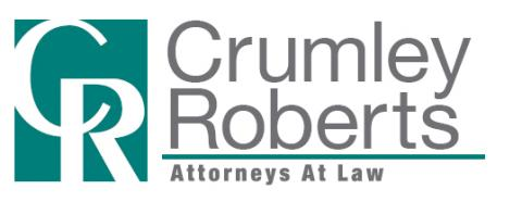 Logo of Crumley Roberts Attorneys At Law - green and gray