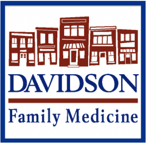 Red and blue logo for Davidson Family Medicine