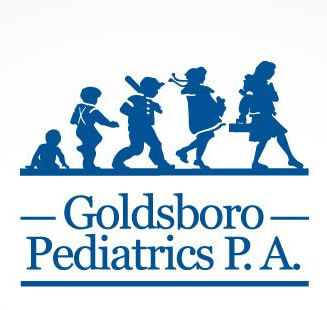 Goldsboro Pediatrics logo in blue