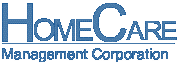 HomeCare Management Corporation logo in blue