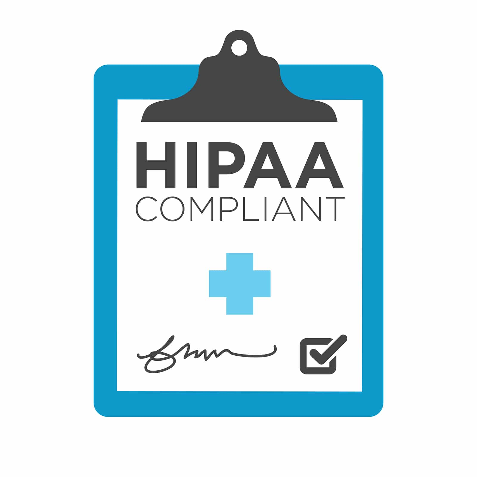 HIPAA Compliance Icon Graphic with Medical Symbol