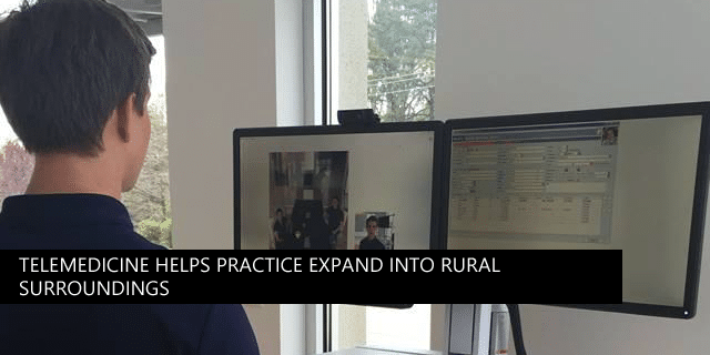 Telemedicine helps Blue Ridge Medical expand into rural surroundings. Patients can see a specialist from their office, or even from their living room couch.