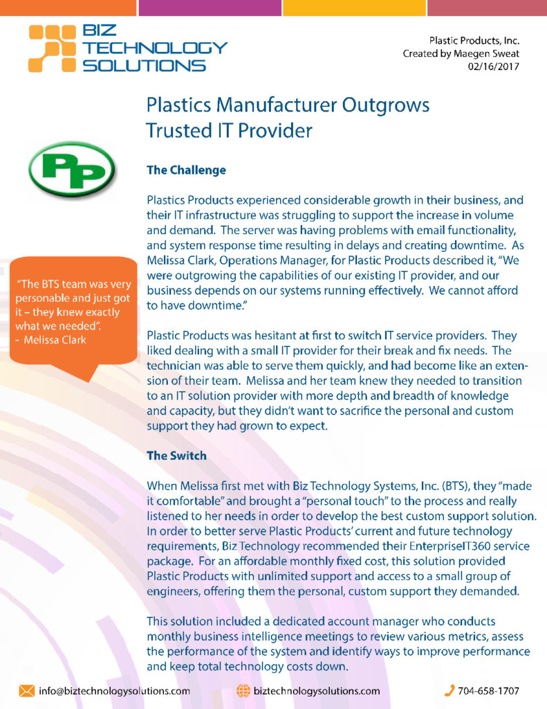 White Paper for Plastic Products