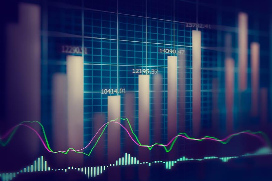 Chart of business data