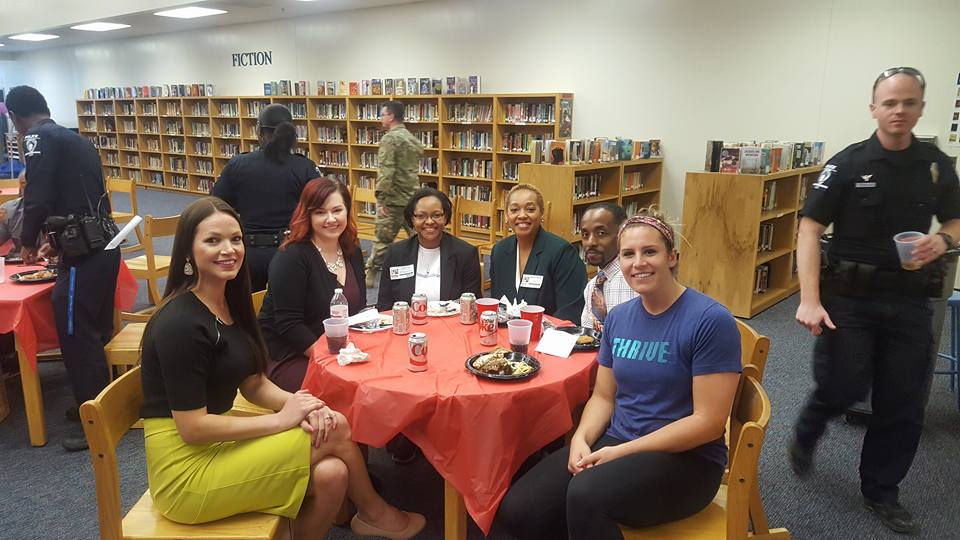 BTS employee volunteering for Career Day at McClinttock Middle School
