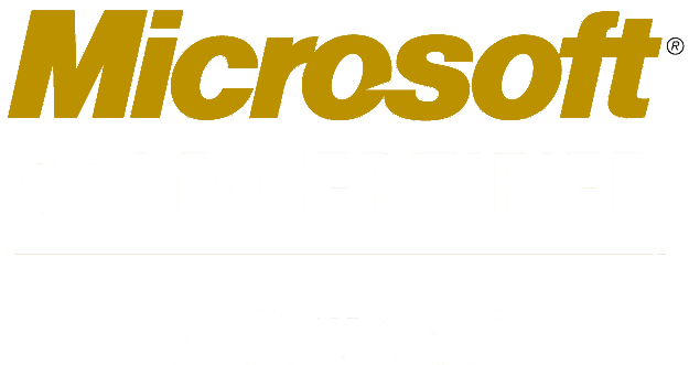 Microsoft Gold Certified Partner White Logo Transparent New
