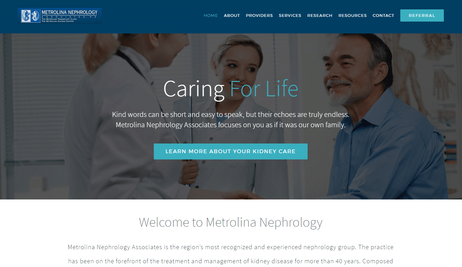 healthcare website development portfolio 21