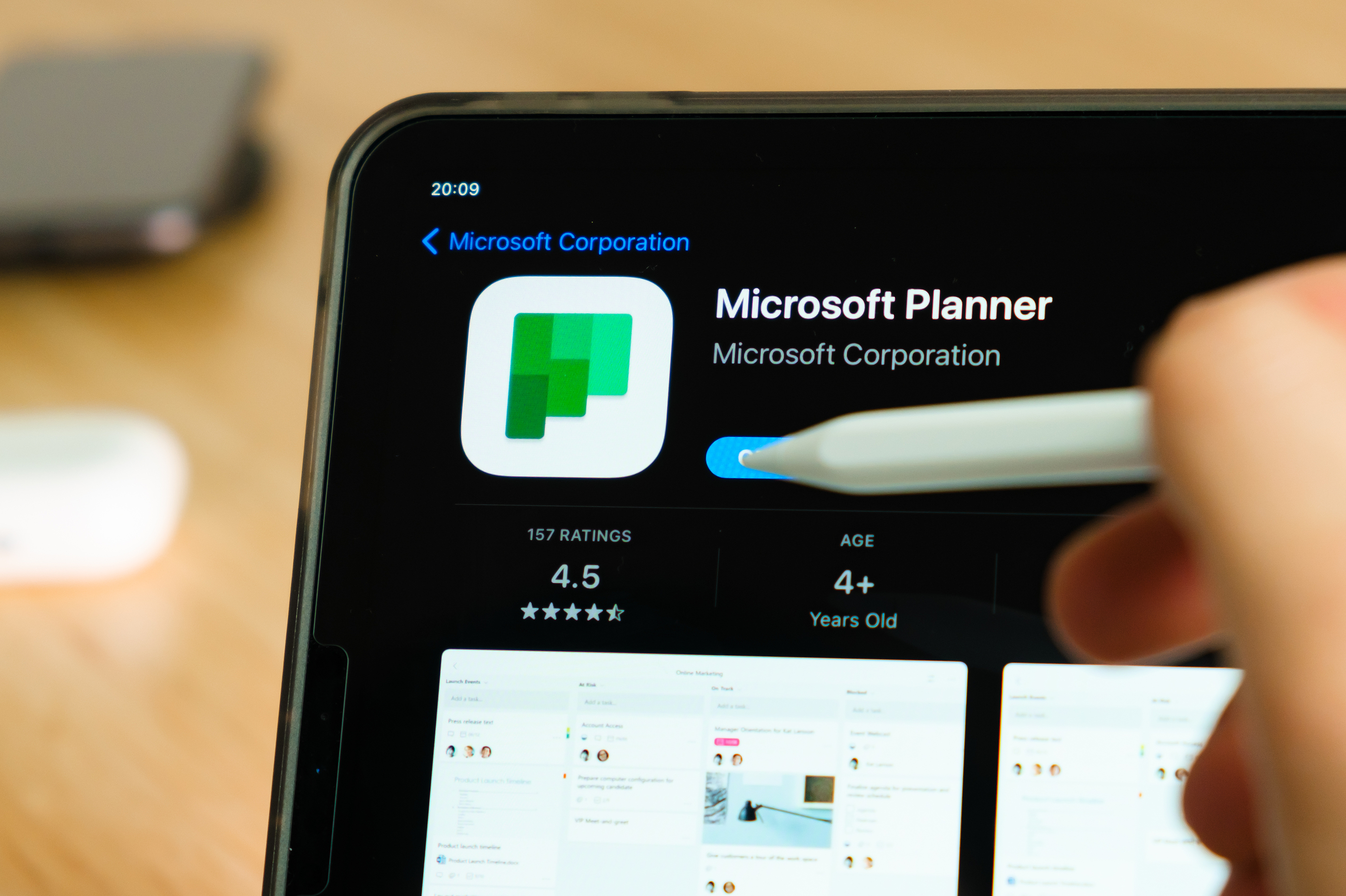 bigstock Microsoft Planner Logo Shown B 401558492